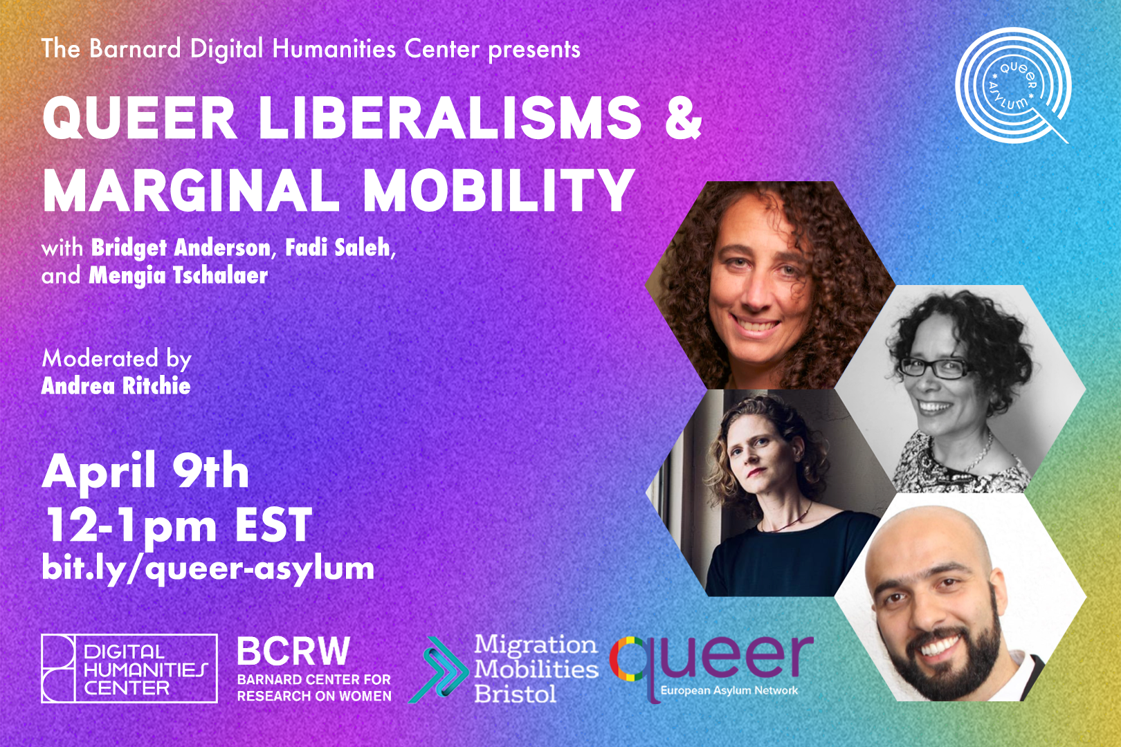 Slide with event information of Queer Liberalisms & Migrational Mobility